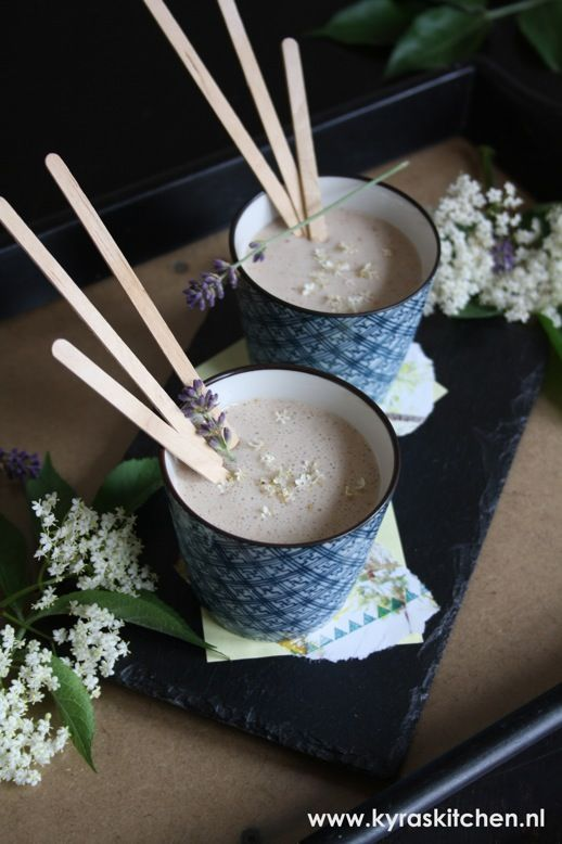 recipe: Elderflower Milkshake #myherbalspring: Essential Oil, Nut Milkshake, Healthy Recipe, Vegan Drinks, Milkshakes, Dandelion Revolution, Vegan Food