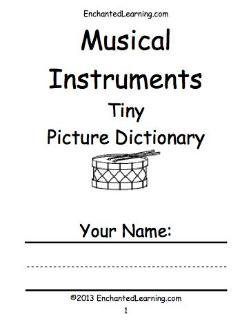 Music - EnchantedLearning.com - Printables for music theory, instruments, etc.