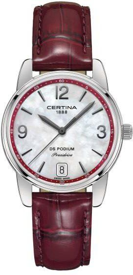 Certina Watch DS Podium Lady #add-content #basel-16 #bezel-fixed #bracelet-strap-leather #brand-certina #case-depth-8-6mm #case-material-steel #case-width-33mm #date-yes #delivery-timescale-1-2-weeks #dial-colour-white #gender-ladies #luxury #movement-quartz-battery #new-product-yes #official-stockist-for-certina-watches #packaging-certina-watch-packaging #style-dress #subcat-ds-podium #supplier-model-no-c034-210-16-427-00 #warranty-certina-official-2-year-guarantee #water-resistant-100m
