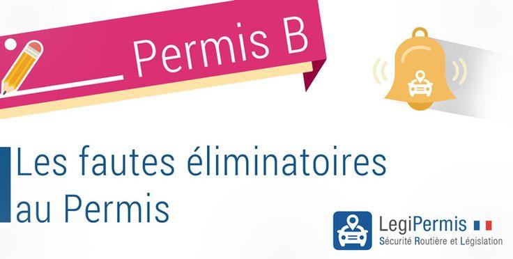 Les fautes éliminatoires à l'examen pratique du permis de conduire.