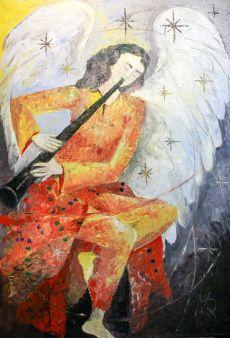 NICOLA QUICI, Erzengel Uriel, 70 x 100 cm, Öl auf Leinwand