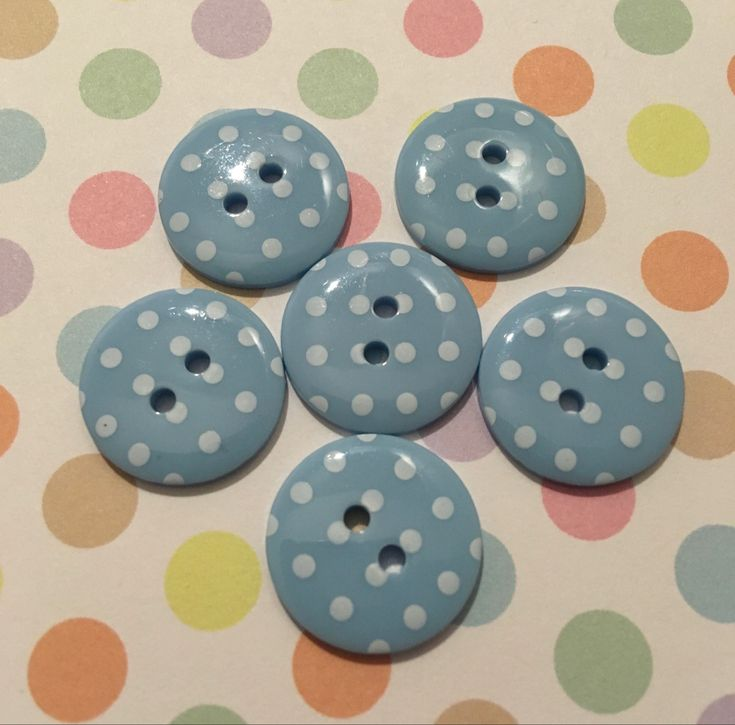 Red Buttons With White Spots 35mm x 5