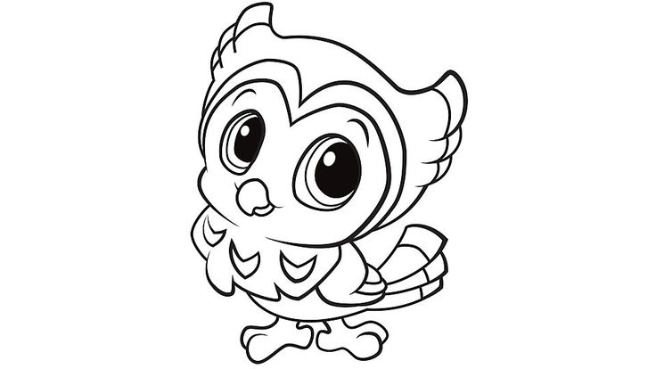 cute baby owl animals coloring pages | 24 best images about Baby animal printables on Pinterest ...