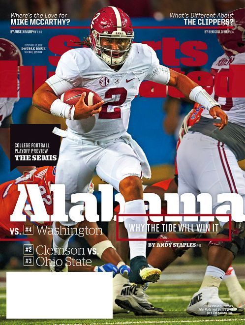 Sports Illustrated December 12, 2016 JALEN HURTS Alabama, Clemson, Ohio State