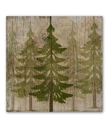 Loving this Pine Tree Forest Wrapped Canvas on #zulily! #zulilyfinds