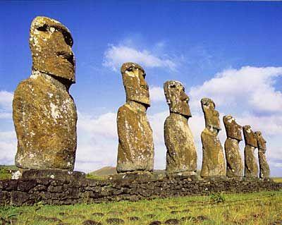 Moai en Isla de Pascua, Chile