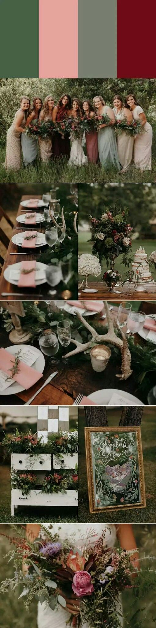 Bohemian Chic Woodland Wedding