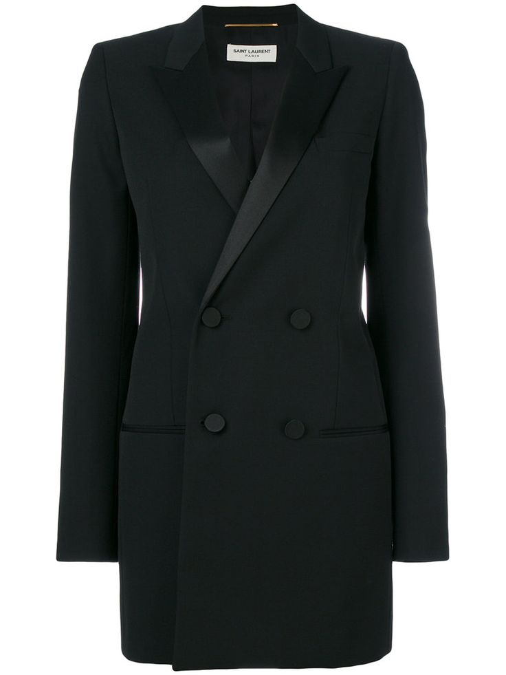¡Consigue este tipo de americana de SAINT LAURENT ahora! Haz clic para ver los detalles. Envíos gratis a toda España. Saint Laurent - Le Smoking Jacket - Women - Silk/Cotton/Polyester/Wool - 42: Black silk-cotton-wool Le Smoking jacket from Saint Laurent featuring peaked lapels, a double breasted front fastening, a fitted waist, a chest pocket, front welt pockets, long sleeves, button cuffs, a rear central vent, a straight hem, a full lining and a long length. Size: 42. Gender: Female…