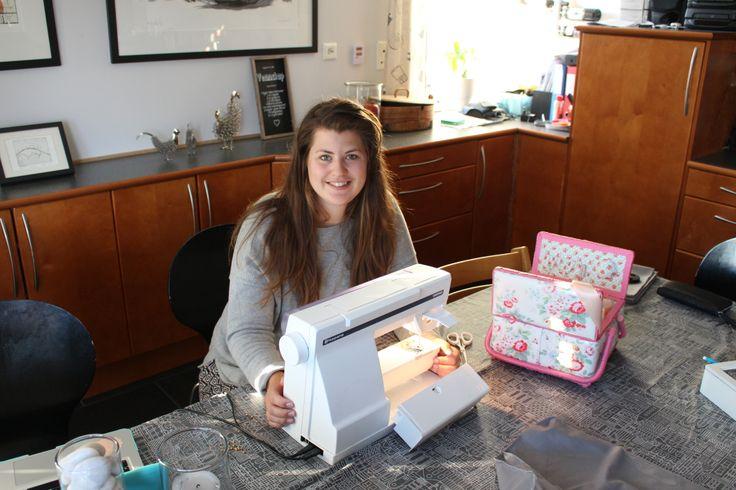 me making aprons