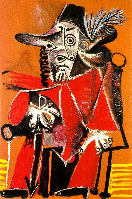 Picasso - 1969 Mousquetaire à l'épée assis