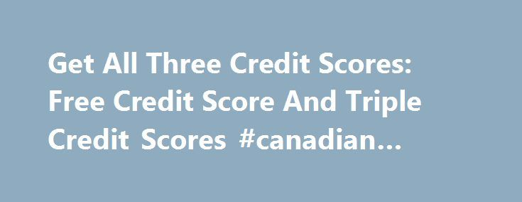 how to get free credit score ontario