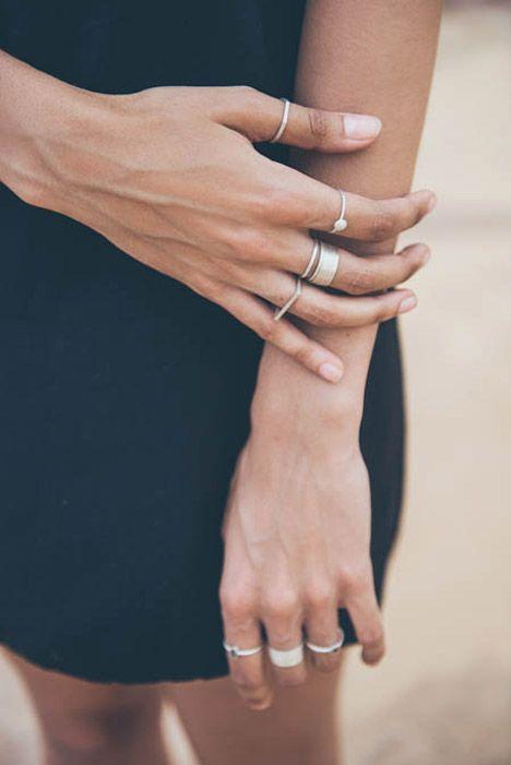 Minimal silver rings