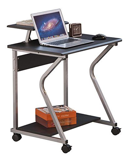 Work more efficiently and save space with this Merax Stylish Metal Frame Mobile Computer Desk Writing Laptop Table. Designed with 4 casters on the bottom, this ...
