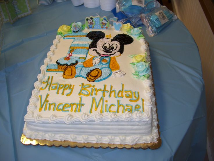 Brilliant 1St Birthday Cakes For Boys Mickey Mouse 1St Birthday Ideas Personalised Birthday Cards Sponlily Jamesorg