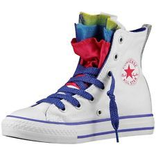 Converse All Star Chuck Taylor Party Scarpe Sportive Donna Bianche  647670C