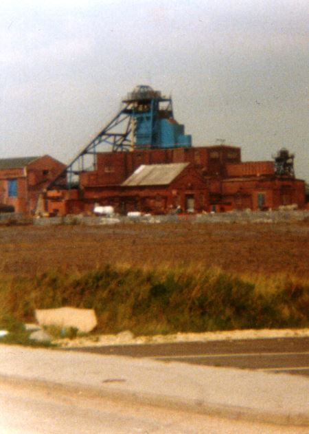 The Wombwell Coal Mine (Pit) site before Maplin's Wombwell Head office was constructed 1989 Wombwell, Barnsley, South Yorkshire UK