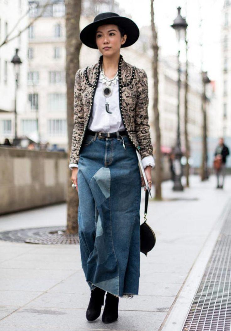 Street-fashion: лучшие образы с Недели моды в Париже : Линда Тол / фото 15