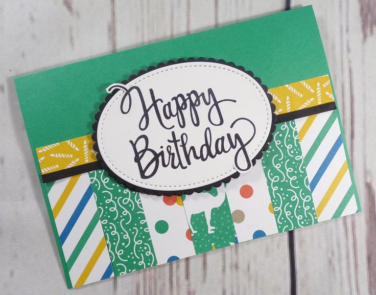 Sketch Sunday - Handmade Birthday Card created by Sarah's Stampin Retreat using the Party Animal DSP from Stampin' Up