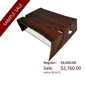 Rotsen Furniture / Sample Sale Raw Edge Cocobolo Coffee Table