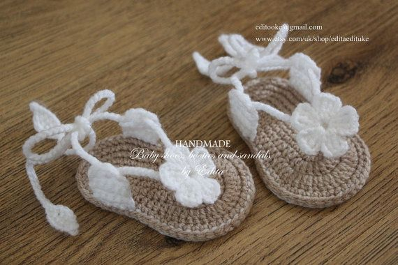 Crochet baby sandals gladiator sandals booties by editaedituke