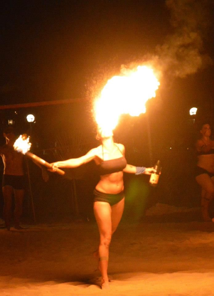 Animation Fire Show in Aldemar Olympian Village!!