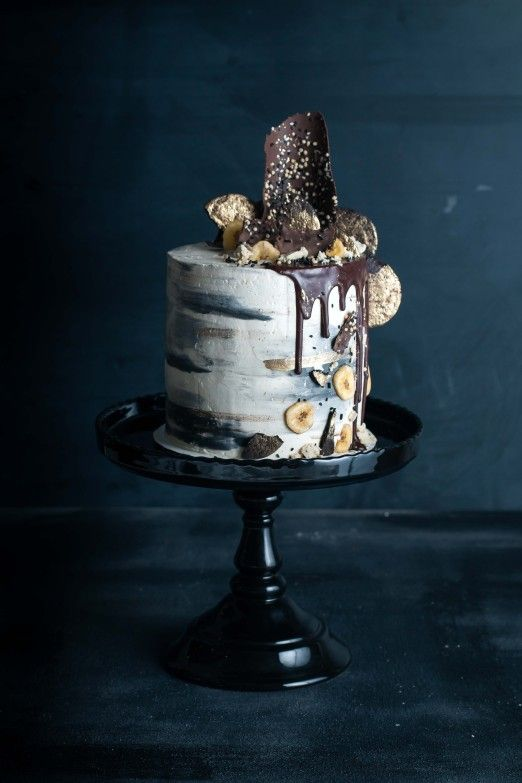 Chocolate Chip Tahini Cake with Bananas and Halva   Recipe from I Will Not Eat Oysters