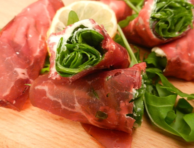 Bresaola With Fresh Goat Cheese And Rocket