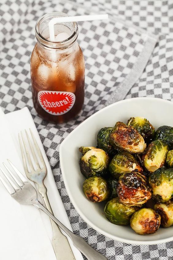 jalapeno pepper jelly glazed Brussels sprouts