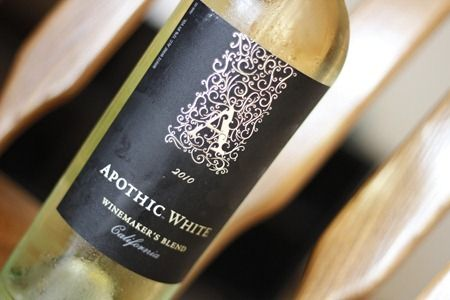 Apothic white - Chardonnay, Riesling, and Muscato blend.  Flavors of peach, honey, and vanilla.