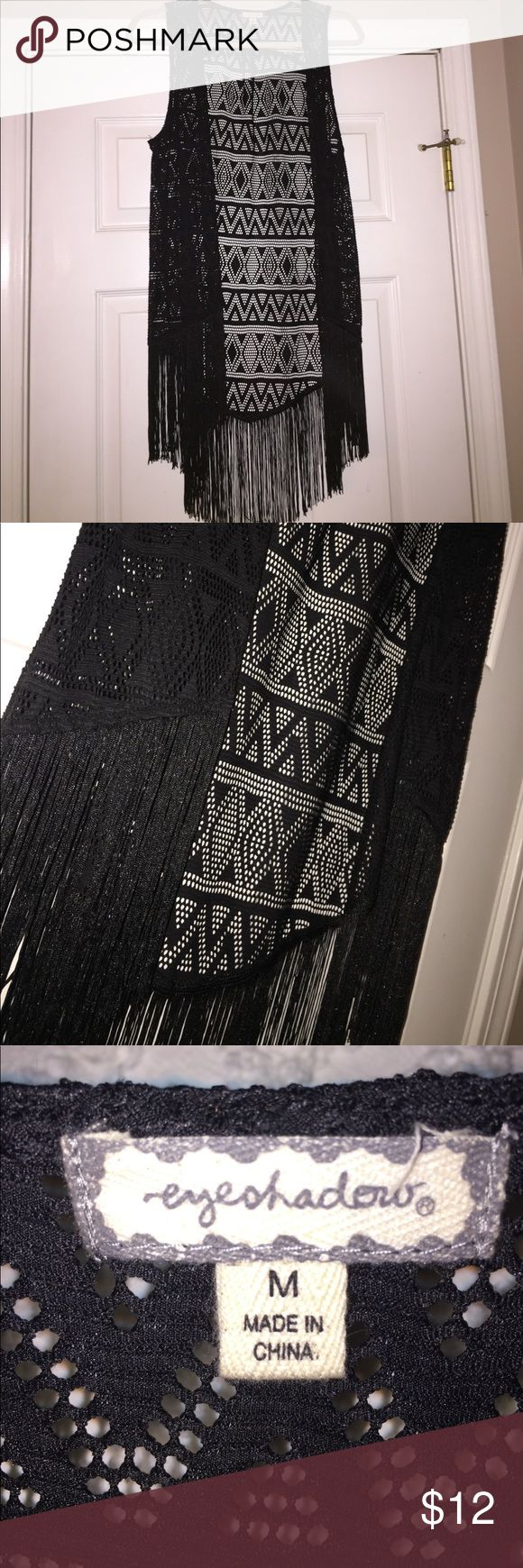 Black fringe cardigan Black fringe cardigan Eyeshadow Sweaters Cardigans