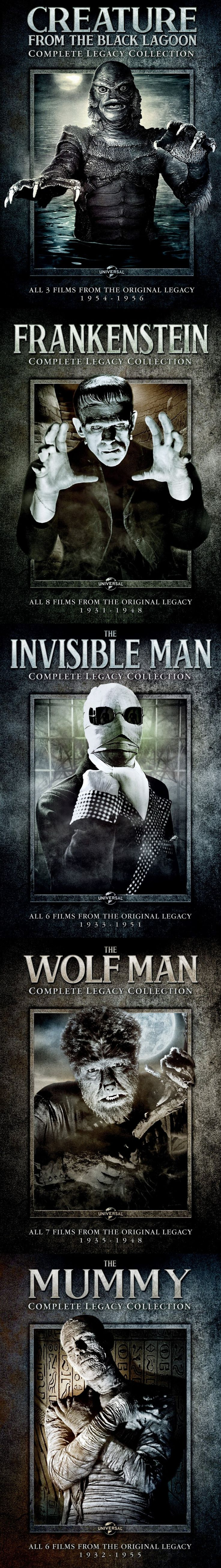 Universal Studios Complete Legacy Collection Monster DVD Sets
