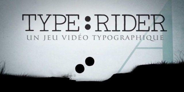 Type:Rider est un jeu qui sera disponible sur smartphones/tablettes et qui a pour ambition de faire découvrir la typographie à travers une expérience interactive et transmédia. De la peinture préhistorique jusqu'au pixel-art, cette création, à l'univers graphique très réussi, a été réalisée par Cosmografik, le tout proposée par Arte.