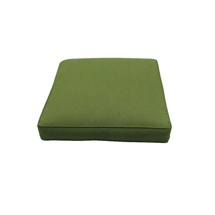Hampton Bay Carol Stream Sunbrella Spectrum Cilantro Ottoman/Coffee Table Replacement Cushion