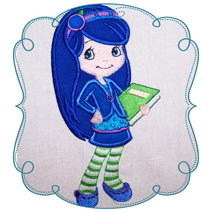 Strawberry Shortcake Applique Machine Embroidery Design Pattern-Instant download Loves Applique