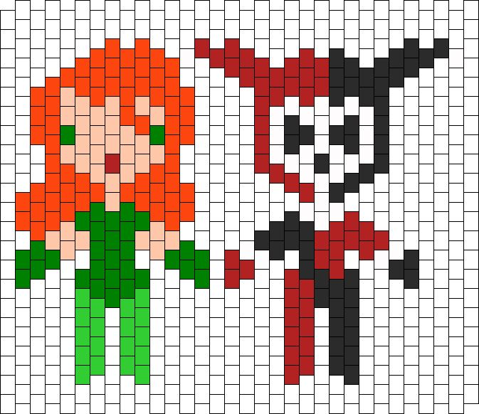 Poison Ivy And Harley Quinn bead pattern
