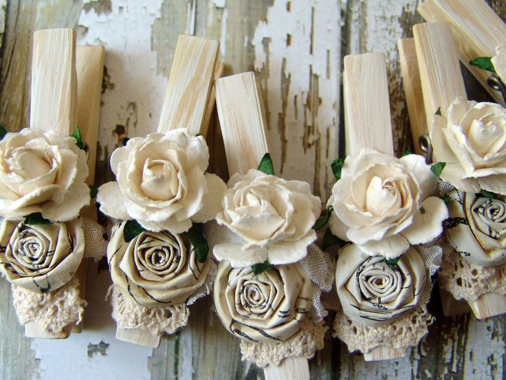 shabby chic clothes pins