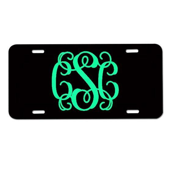 Monogram License Plate, Monogram Car Tag, Personalized License Plate, Monogrammed Gifts on Etsy, Sold