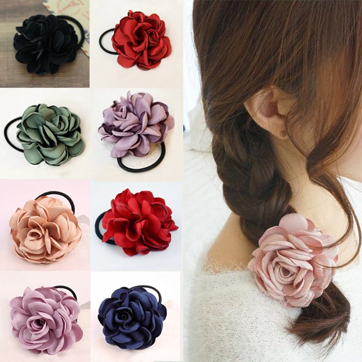 Sale 1Pc Fashion 2017 Para el pelo Ponytail Fabric Elastic Hair Bands Rope Ties Floral Headwear