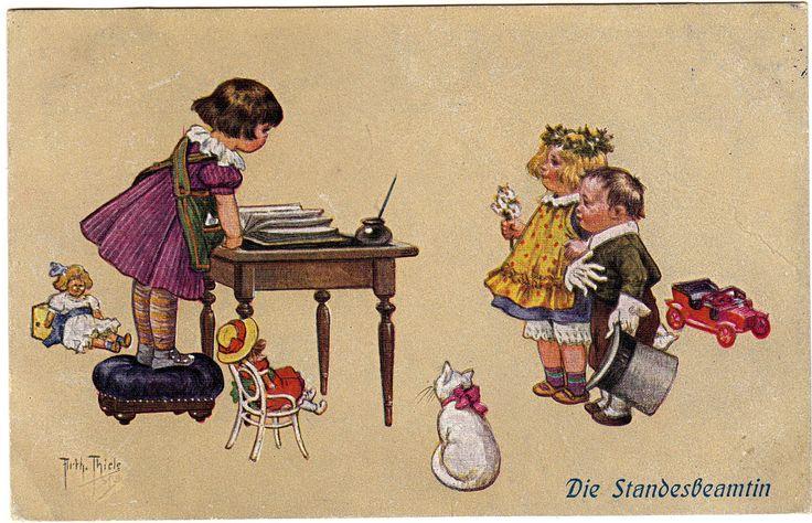https://flic.kr/p/rELPUB | Old Postcard - Arthur Thiele - Kinderspiele im WWI - Children's games in WWI - Jeux pour enfants dans la Première Guerre mondiale - | My good friend Asmodea present her collection
