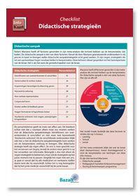 Infokaart: Wat werkt in de klas: checklist didactische strategieën