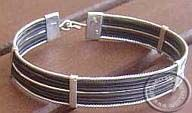 Elephant hair and silver bracelet bracelet
