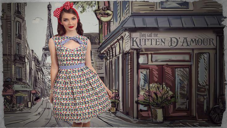 Picnic in Paris Peekaboo Dress