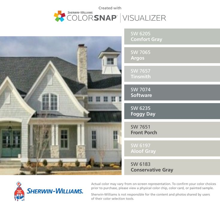 I found these colors with colorsnap visualizer for iphone Color your home exterior online
