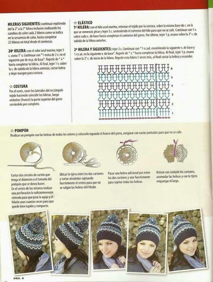 44 mejores imágenes de Gorro a crochet en Pinterest | Sombreros de ...