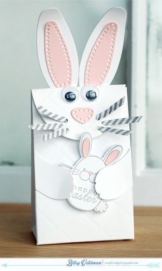 Bunny Gift Bag by Betsy Veldman for Papertrey Ink (February 2014)