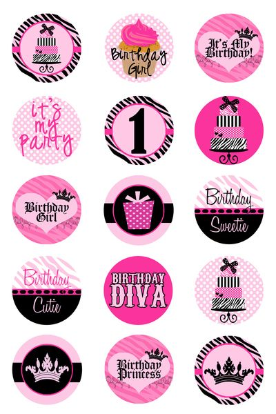 Birthday Girl  Bottlecap Images punched out