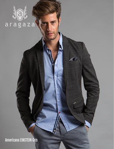 69098e28af068 americana einstein gris. moda para hombre