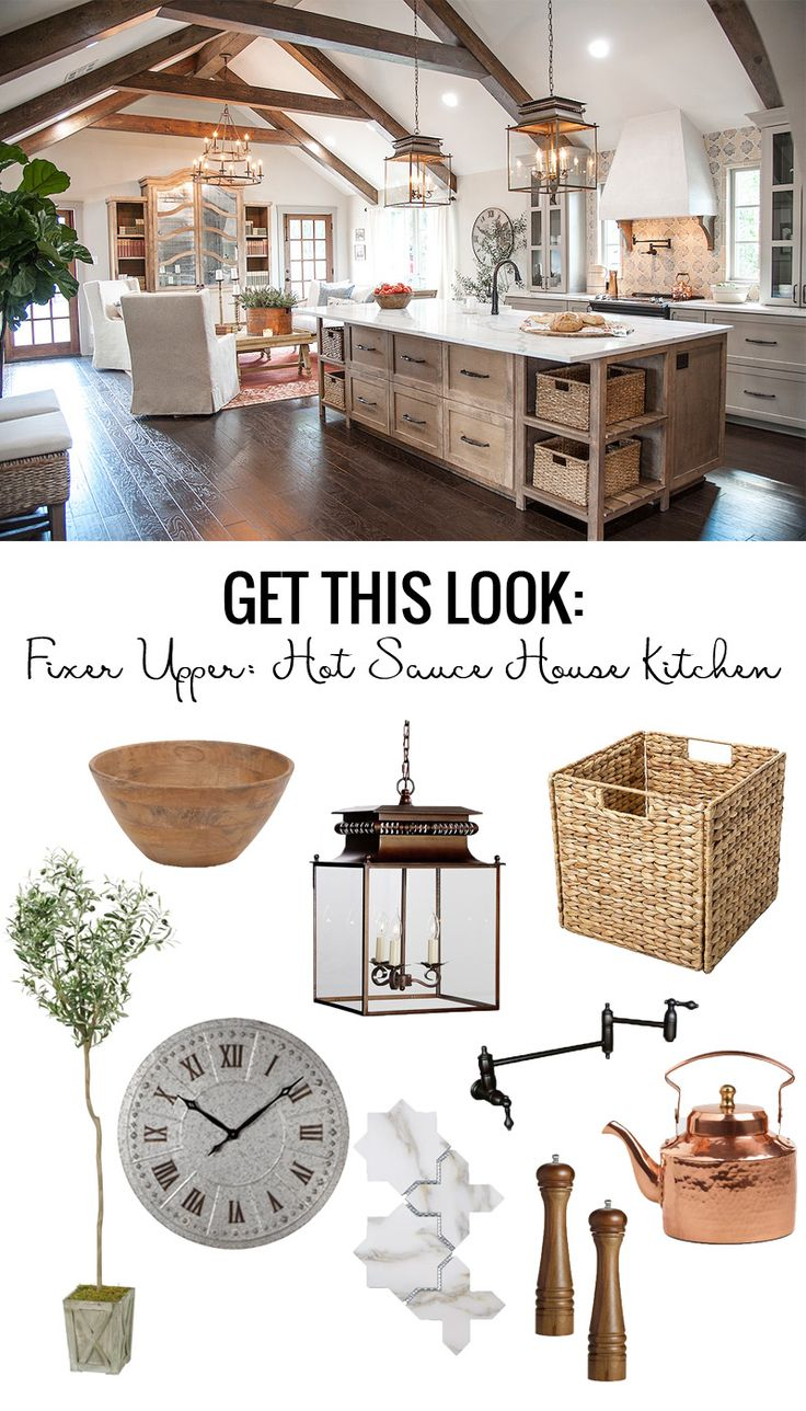 Remodelaholic   Get This Look: Fixer Upper Hot Sauce House Kitchen