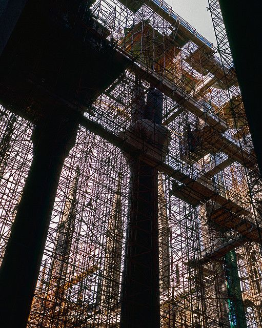 #andamios en la Sagrada Familia