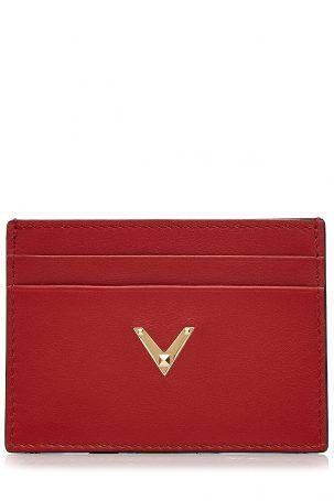 Valentino Valentino Kreditkarten-Etui aus Leder – Rot